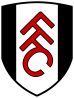 In 2001, a shield with an angled red FFC on a black and white striped background was introduced for the first Premier League campaign.